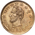 Civil War Patriotics, 1864 Lincoln/Freedom Civil War Token, Fuld-127/295d, MS62 NGC....