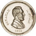 Civil War Patriotics, 1864 Abe Lincoln/Cannons and Flags, Fuld-129/349e--AlteredSurfaces--ANACS. MS60 Details....