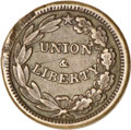 "Civil War Merchants, Blank Reverse ""Union & Liberty"" Civil War Token...."