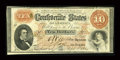 Confederate Notes:1861 Issues, T24 $10 1861 PF-13 Cr.166.. ...
