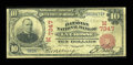 National Bank Notes:Wisconsin, La Crosse, WI - $10 1902 Red Seal Fr. 613 The Batavian NB Ch. # (M)7347. ...