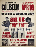 Music Memorabilia:Posters, George Jones and Tammy Wynette Concert Poster....