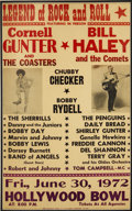 Music Memorabilia:Posters, Bill Haley and Cornell Gunter Vintage Concert Poster....