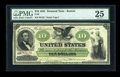 Large Size:Demand Notes, Fr. 8 $10 1861 Demand Note PMG Very Fine 25....