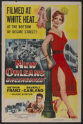 "Movie Posters:Crime, New Orleans Uncensored (Columbia, 1955). One Sheet (27"" X 41"").Crime...."