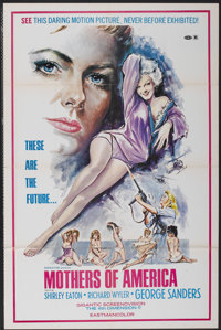 """The Seven Secrets of Sumuru (Fine Products, 1972). One Sheet (27.5"""" X 42""""). Also known as Mothers of America..."""