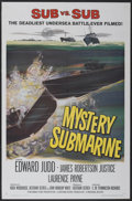 "Movie Posters:Adventure, Mystery Submarine (Universal, 1963). One Sheet (27"" X 41"").Adventure...."
