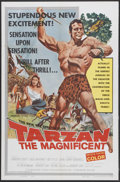 "Movie Posters:Adventure, Tarzan the Magnificent (Paramount, 1960). One Sheet (27"" X 41"").Adventure...."