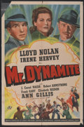"Movie Posters:Mystery, Mr. Dynamite (Universal, 1941). One Sheet (27"" X 41""). Mystery...."