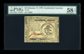 Colonial Notes:Continental Congress Issues, Continental Currency February 17, 1776 $3 PMG Choice About Unc 58 EPQ....