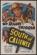 """Movie Posters:Western, South of Caliente (Republic, 1951). One Sheet (27"""" X 41"""").Western...."""