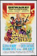 "Movie Posters:Bad Girl, Savage Sisters (American International, 1974). One Sheet (27"" X41"") Style A. Bad Girl...."