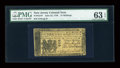 Colonial Notes:New Jersey, New Jersey June 22, 1756 15s PMG Choice Uncirculated 63 EPQ....