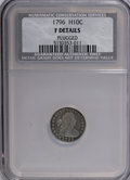 Early Half Dimes: , 1796 H10C --Plugged--NCS. Fine Details. NGC Census: (1/57). PCGSPopulation (4/67). Mintage: 10,230. Numismedia Wsl. Price f...