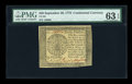 Colonial Notes:Continental Congress Issues, Continental Currency September 26, 1778 $40 PMG Choice Uncirculated63 EPQ....