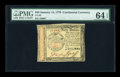 Colonial Notes:Continental Congress Issues, Continental Currency January 14, 1779 $40 PMG Choice Uncirculated64 EPQ....