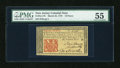Colonial Notes:New Jersey, New Jersey March 25, 1776 18d PMG About Uncirculated 55....