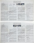 Autographs:Celebrities, Gemini 6A and Gemini 10 U.N. Outer Space Treaties Each Signed bythe Respective Crew.... (Total: 2 Items)