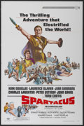 "Movie Posters:Adventure, Spartacus (Universal International, R-1967). One Sheet (27"" X 41"").Adventure...."