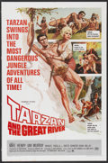 "Movie Posters:Adventure, Tarzan and the Great River (Paramount, 1967). One Sheet (27"" X41""). Adventure...."