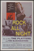 """Movie Posters:Crime, Rock All Night (American International, 1957). One Sheet (27"""" X41""""). Rock and Roll/Crime...."""