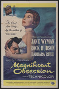 """Movie Posters:Drama, Magnificent Obsession (Universal International, 1954). One Sheet (27"""" X 41""""). Drama...."""