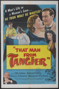 "Movie Posters:Adventure, That Man from Tangier (United Artists, 1953). One Sheet (27"" X41""). Adventure...."