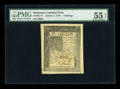 Colonial Notes:Delaware, Delaware January 1, 1776 1s PMG About Uncirculated 55 EPQ....