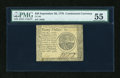 Colonial Notes:Continental Congress Issues, Continental Currency September 26, 1778 $20 PMG About Uncirculated55....