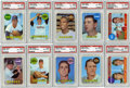 Baseball Cards:Lots, 1968 Topps Baseball PSA NM- MT 8 Group Lot Of 10....