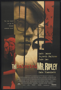 "The Talented Mr. Ripley (Paramount, 1999). International One Sheet (27"" X 39.5"") SS. Crime"