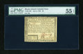 Colonial Notes:Rhode Island, Rhode Island July 2, 1780 $5 PMG About Uncirculated 55 EPQ....