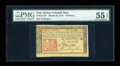 Colonial Notes:New Jersey, New Jersey March 25, 1776 18d PMG About Uncirculated 55 EPQ....
