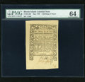 Colonial Notes:Rhode Island, Rhode Island May 1786 2s/6d PMG Choice Uncirculated 64....