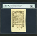 Colonial Notes:Rhode Island, Rhode Island May 1786 1s PMG Choice About Unc 58 EPQ....