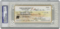 Autographs:Checks, Robert Gibson Signed Check PSA Gem Mint 10....
