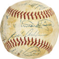 Autographs:Baseballs, 1954 Philadelphia Phillies Team Signed Baseball....