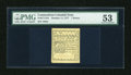 Colonial Notes:Connecticut, Connecticut October 11, 1777 7d White Paper PMG About Uncirculated 53....