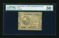 Colonial Notes:Continental Congress Issues, Continental Currency February 17, 1776 $6 PMG About Uncirculated 50EPQ....