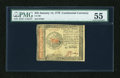 Colonial Notes:Continental Congress Issues, Continental Currency January 14, 1779 $45 PMG About Uncirculated55....