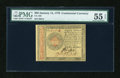 Colonial Notes:Continental Congress Issues, Continental Currency January 14, 1779 $80 PMG About Uncirculated 55EPQ....