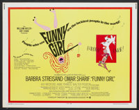 "Funny Girl (Columbia, 1968). Half Sheet (22"" X 28""). Musical"