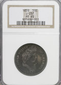 Patterns: , 1859 P50C Half Dollar, Judd-237, Pollock-293, R.4, PR65 NGC. NGC Census: (4/4). PCGS Population (3/1). (#11966)...