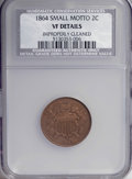 1864 2C Small Motto--Improperly Cleaned--NCS. VF Details. NGC Census: (3/251). PCGS Population (6/198). Mintage: 19,847...
