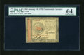 Colonial Notes:Continental Congress Issues, Continental Currency January 14, 1779 $45 PMG Choice Uncirculated64....