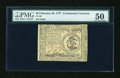 Colonial Notes:Continental Congress Issues, Continental Currency February 26, 1777 $3 PMG About Uncirculated50....