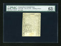 Colonial Notes:Connecticut, Connecticut June 19, 1776 1s6d PMG Choice Uncirculated 63 EPQ....
