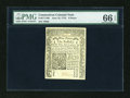 Colonial Notes:Connecticut, Connecticut June 19, 1776 9d PMG Gem Uncirculated 66 EPQ....