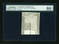 Colonial Notes:Connecticut, Connecticut June 7, 1776 5s PMG Choice Uncirculated 64 EPQ....