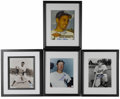 Autographs:Photos, Brooklyn Dodgers and New York Yankees Great Signed Photographs Lotof 4. A nice slice of New York City baseball history is ...